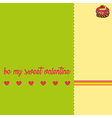 Greeting card for Saint Valentines Day vector image vector image