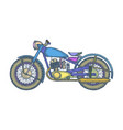 hand drawn vintage motorcycle logo design vector image