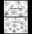 happy halloween spider web vector image