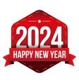 Happy New Year 2024 vector image vector image