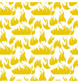 image pattern set fire flame silhouettes vector image
