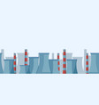 industrial horizontal landscape oil refineries vector image vector image