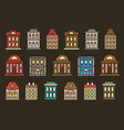 isolated colorful low-rise municipal houses in vector image vector image