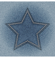 jeans star vector image vector image