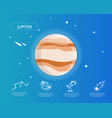 jupiter infographic in universe concept vector image vector image