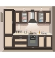 kitchen interior card flat vector image