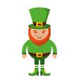 leprechaun happy cartoon st patricks day character vector image vector image