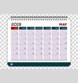 may 2019 calendar planner design template vector image