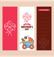 mothers day card with creative logo and pink theme vector image vector image