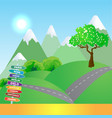 mountains trip background vector image vector image