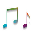 music notes sign colorful icon with vector image vector image