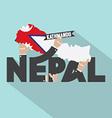 Nepal Typography Design vector image vector image