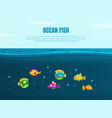 ocean fish banner template with cute colorful vector image vector image