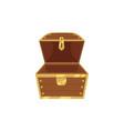 open empty wooden pirate treasure chest vector image vector image