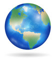 planet earth with blue ocean and clouds isolated vector image vector image