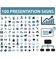 presentation icons vector image
