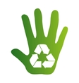 recycle arrows ecology icon vector image