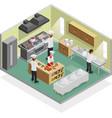 Restaurant Kitchen Concept vector image