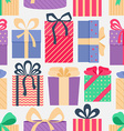 Seamless pattern with gifts vector image vector image