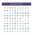 set household icon with flat style design vector image