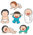 set of baby vector image