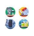 Spare parts set icons vector image