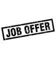 Square grunge black job offer stamp