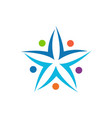 team work abstract star logo icon vector image