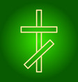 the christian cross icon vector image vector image