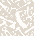 tools on a white background seamless pattern vector image vector image