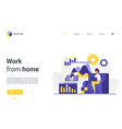 working from home landing page busy freelance vector image vector image