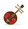 yueqin chinese string musical instrument vector image vector image