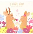 deers romantic vector image