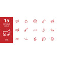 15 tail icons vector image vector image