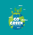 a happy earth day banner for environment safety vector image vector image