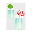 A view of a flower vector image vector image