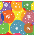 Abstract christmas seamless pattern with circles vector image vector image
