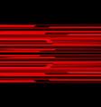 abstract red black metallic shadow black line vector image vector image
