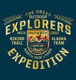 alaska wild north wilderness discovery expedition vector image vector image