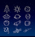 astronomy icons vector image