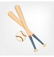 baseball bat ball vector image vector image