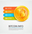 bitcoin infographics business finance vector image