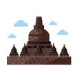 borobudur flat icon indonesia and java vector image vector image