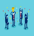 business leader team successful concept business vector image vector image