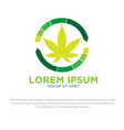 cannabis health logo vector image vector image