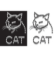 cat outline from parts vector image vector image