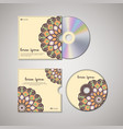 cd cover oriental template vector image