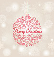 christmas background doodle christmas holiday vector image
