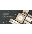 Christmas banner for the store vector image vector image