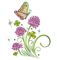 Clover summer time vector image vector image